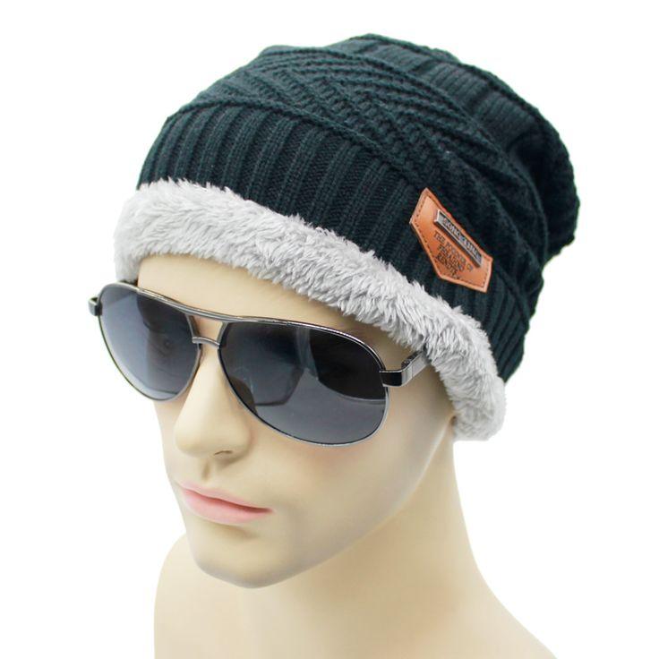 new Men's Winter Bonnet Winter Hats For Men Beanie Fur Warm Baggy Wool Knit Hat Bonnet Outdoor Ski Sports Cap #jewelry, #women, #men, #hats, #watches, #belts
