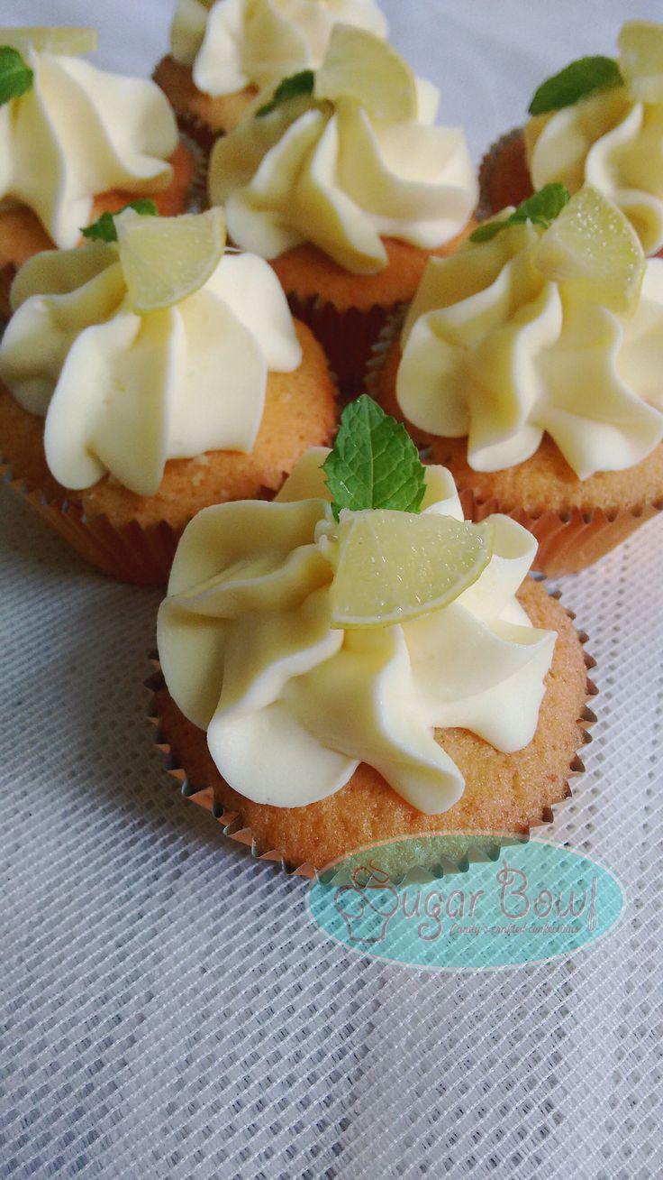 Lemon curd filled cupcakes