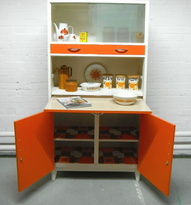 Vintage retro kitchen cabinet larder kitchenette 50s 60s for 60s kitchen ideas