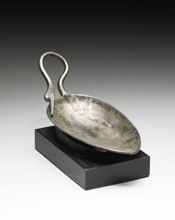 A Roman silver spoon.  Circa 4th Century A.D.
