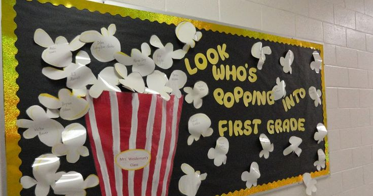 Usually at the beginning of the school year each teacher has a bulletin board that welcomes this year's students. Many times it has some sor...