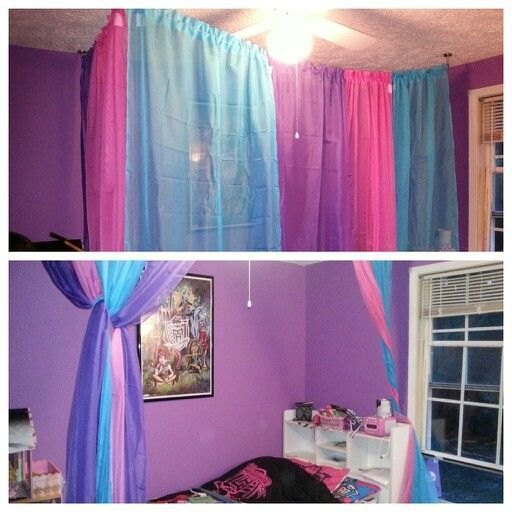 Love This Bed Drape Idea. Find This Pin And More On Monster High Decor ...
