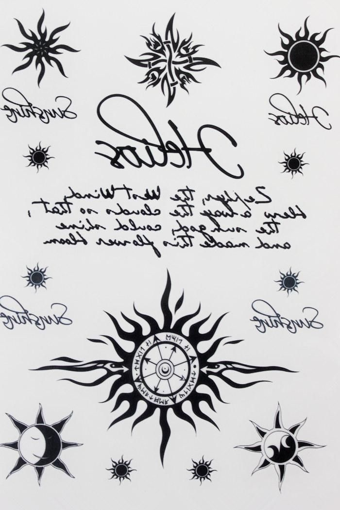 [Visit to Buy] Many Sun and Moon Tattoo 21 X 15 CM Sized Sexy Cool Beauty Tattoo Waterproof Hot Temporary Tattoo Stickers #Advertisement