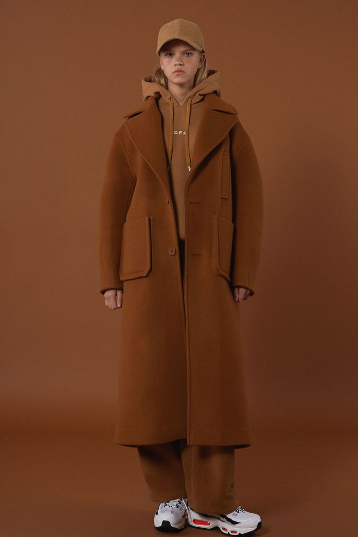 [unisex] Over size drop coat camel