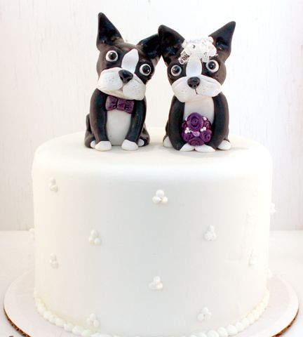 Boston Terrier Wedding Cake Toppers!