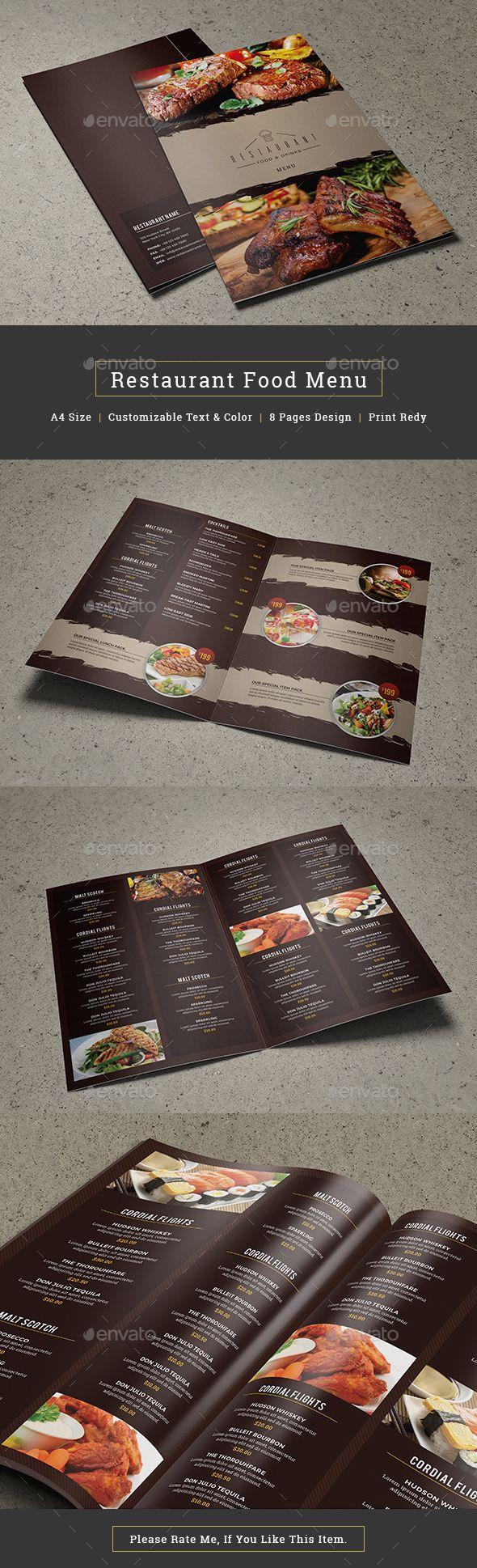 Restaurant Food Menu Food Menus Print