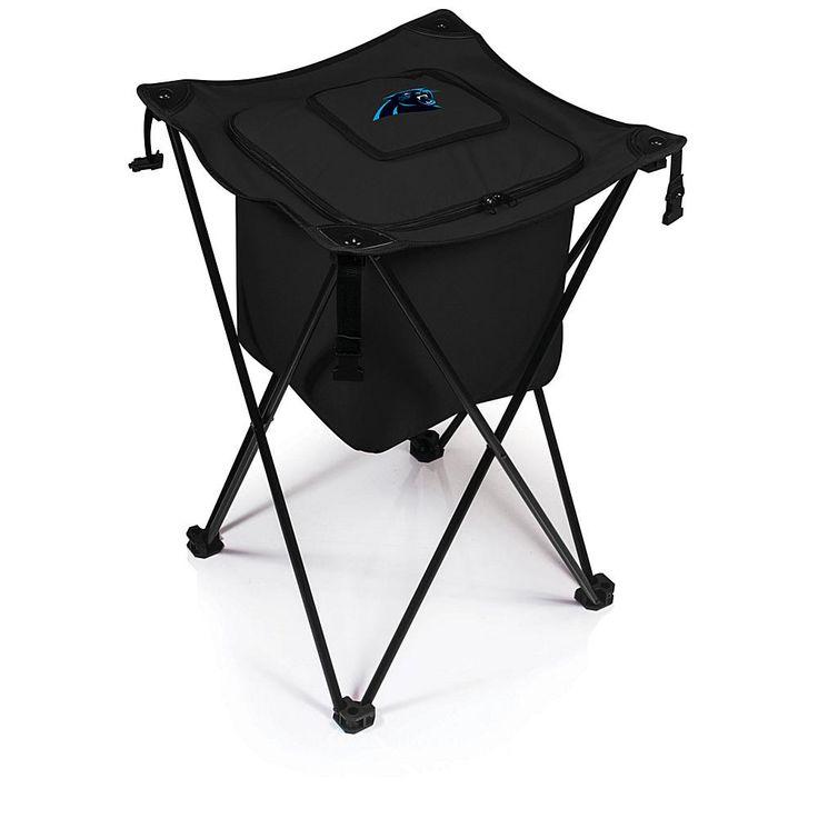 Football Fan Shop Picnic Time Sidekick Foldable Cooler - Carolina Panthers