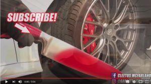 GLOWING HOT KNIFE vs. CAR TIRE!