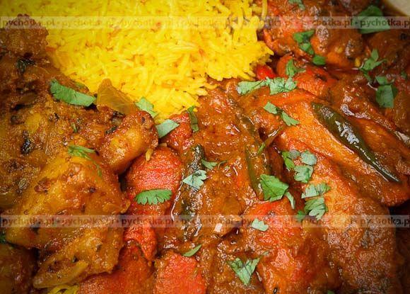 Kurczak curry z ryżem
