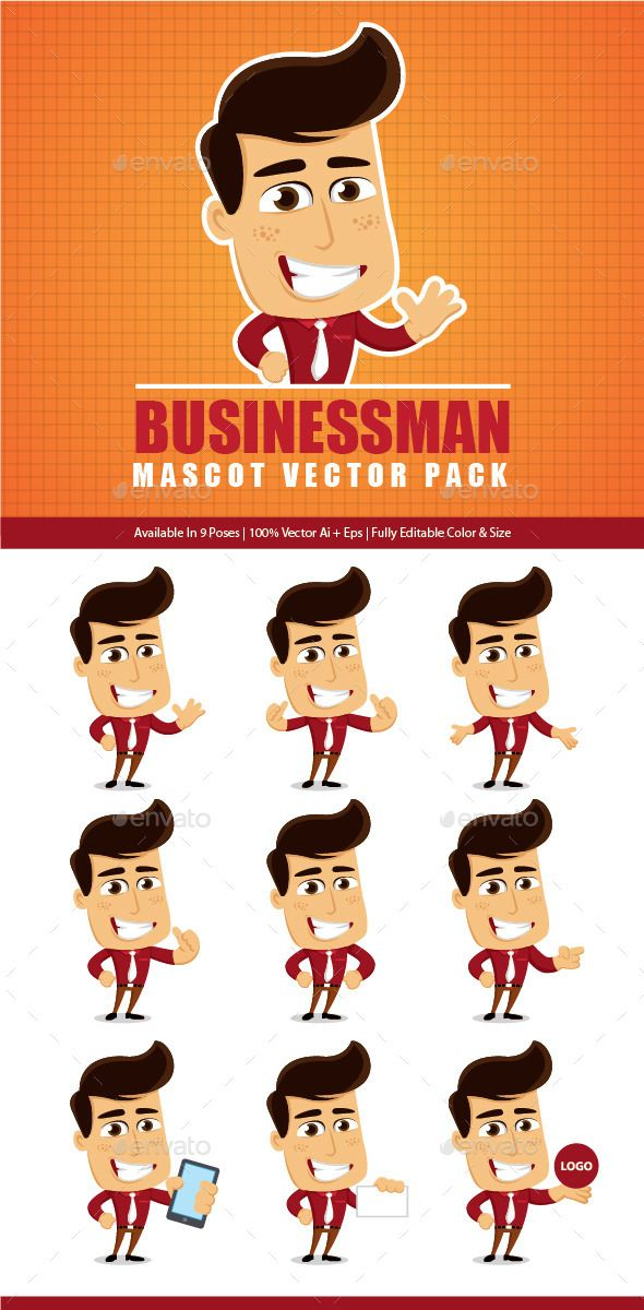 Bussiness Mascot Vector