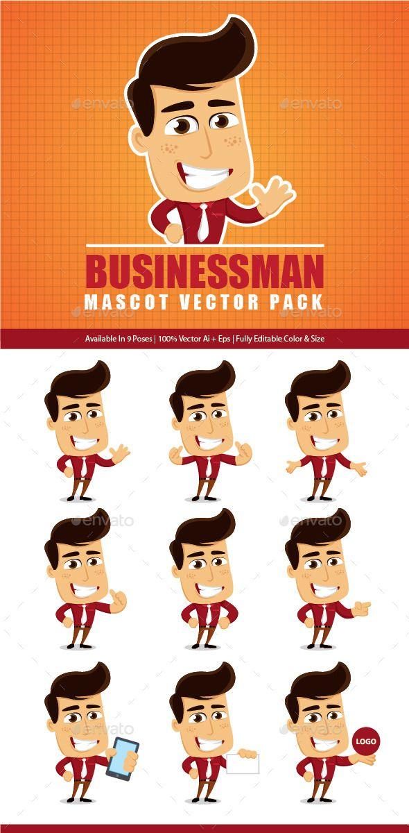 Bussiness Mascot Vector