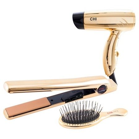"""CHI Air®Classic Flat Iron Bright Gold Gift Set 1"""" : Target"""