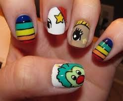 Resultado de imagen para uñas decoradas de dibujos animados paso a paso