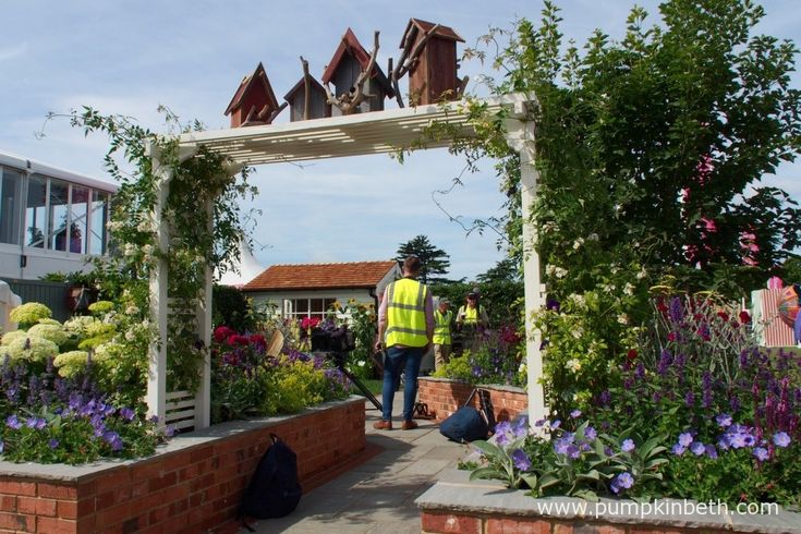 The BBC filming in the Just Retirement: A Garden For Every Retiree.  This garden was designed by Tracy Foster, built by Conway Landscapes and sponsored by Just Retirement Ltd.