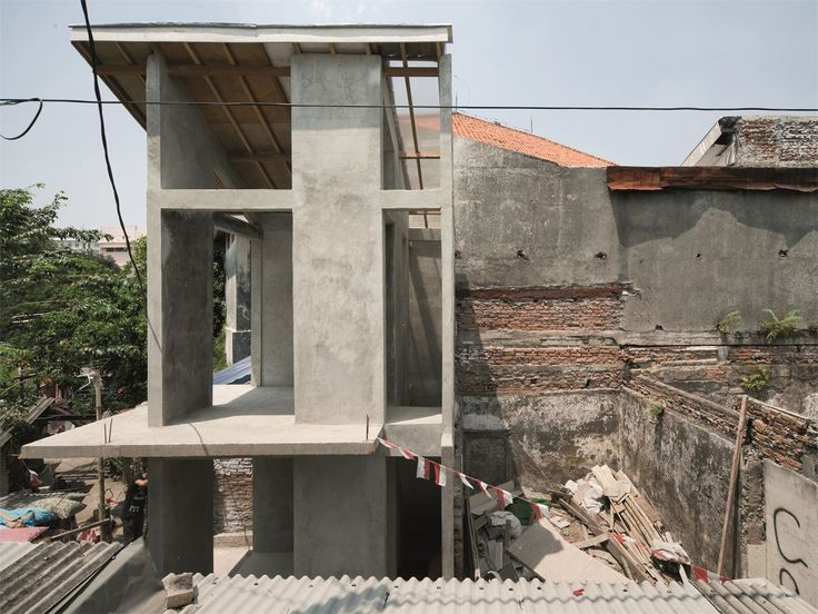 """This 2-step micro intervention upgrades informal settlements in megacities and avoids slum-clearance by authorities. Planned first as a participatory initiative – not top-down – narrow spatial """"voids"""" are introduced within high-density residential areas to bring air and light into the neighbourhood's building fabric."""
