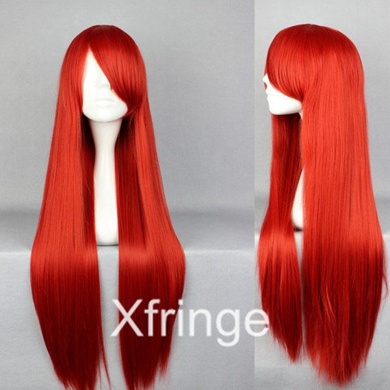Long Red Wig Cosplay Wig Wigs for Women cAnime Costume by xfringe, $14.99