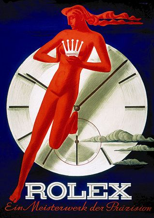 Vintage Poster Ad - Rolex'A Masterpiece of Precision' ca.1945