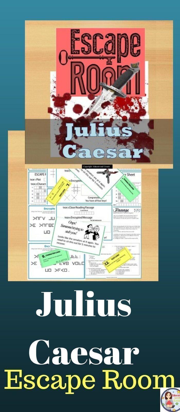 Julius Caesar Escape Room Breakout Game Creative Teaching Julius Caesar