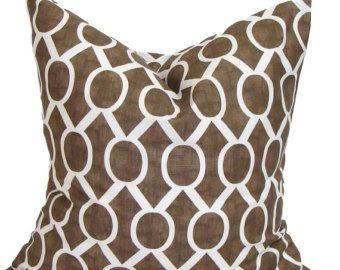 BROWN PILLOWS, Pillow Cover, Decorative Pillow, Throw Pillow, Pillow, Accent Pillow, Pillow Covers, All Sizes, Sham, Brown Euro, Cushion