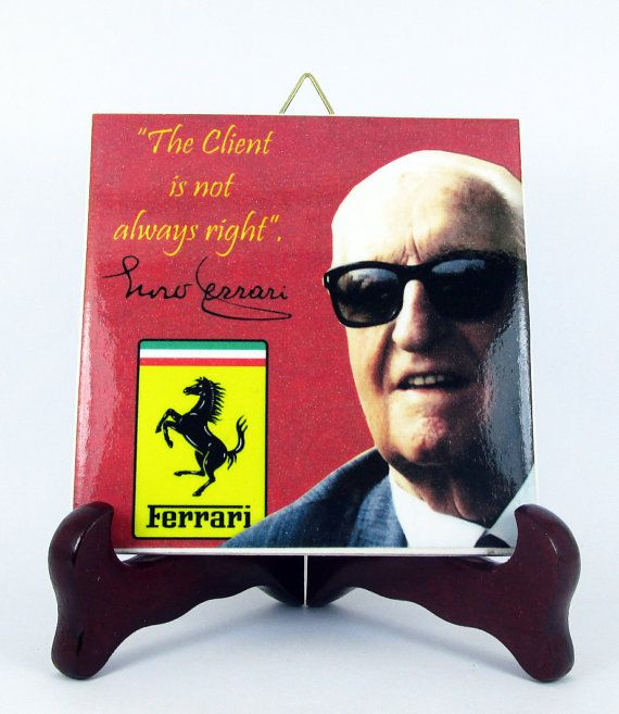 Enzo Ferrari Ceramic Tile with Quote Made in by TerryTiles2014