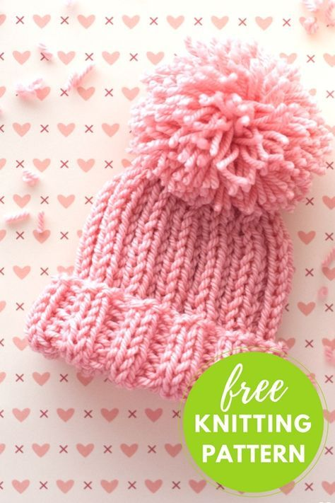 a87e22bf3a04 Half-Pipe Hat Free Knitting Pattern | Baby hats | Baby hats knitting ...