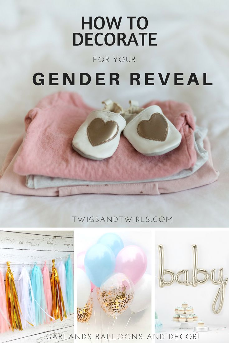 He or She?  Gender reveal ideas and decorations for your special announcement!