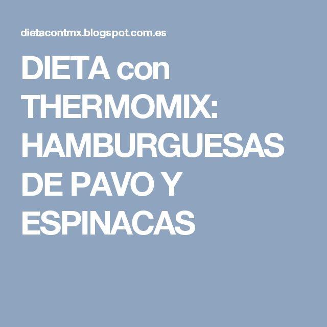 DIETA con THERMOMIX: HAMBURGUESAS DE PAVO Y ESPINACAS