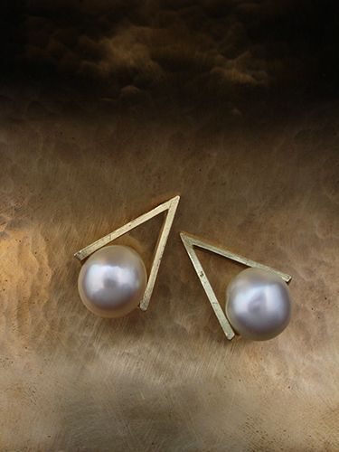 [Pearl Collection : 054] Pierces-K18YG/Pearl