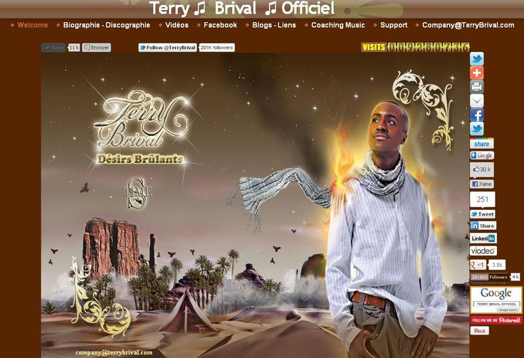 Terry Brival Official. Biography - Discography · News · Videos · Twitter · Facebook · Google · Reverbnation. Club Escape. itunes amazon · Myspace Blogs - Links Welcome · music · Coaching - Support. Welcome to Terry Brival. Invite all your friends and share Thanks ! []