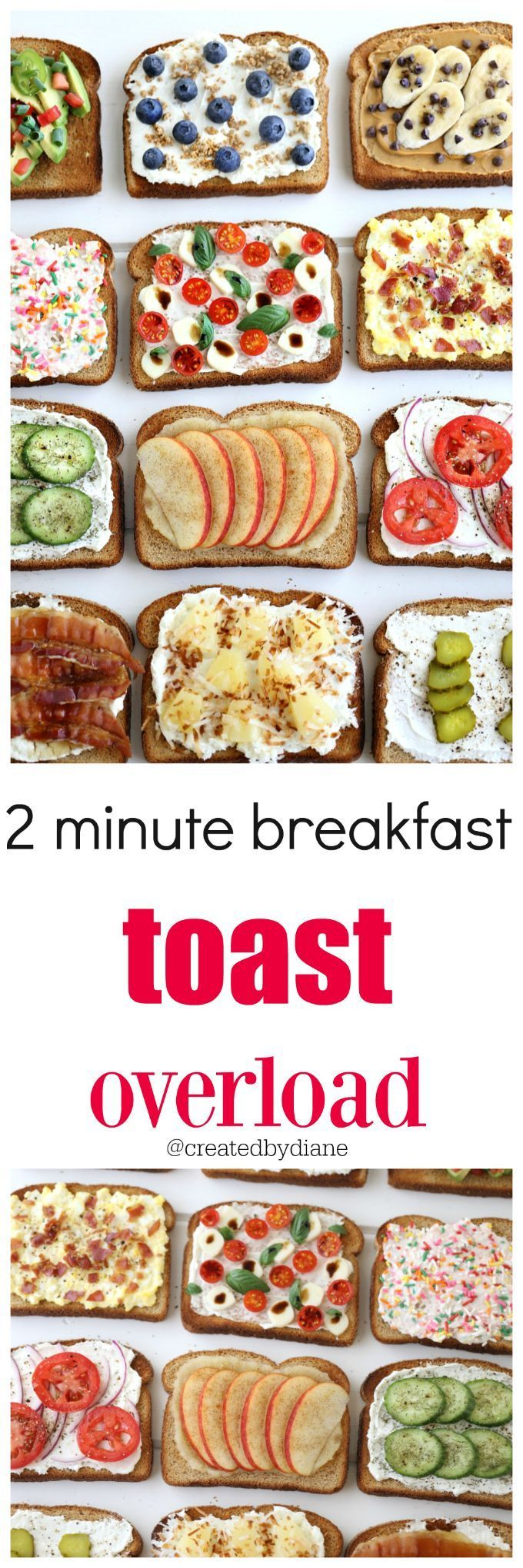 2 minute breakfast toast overload @Created by Diane