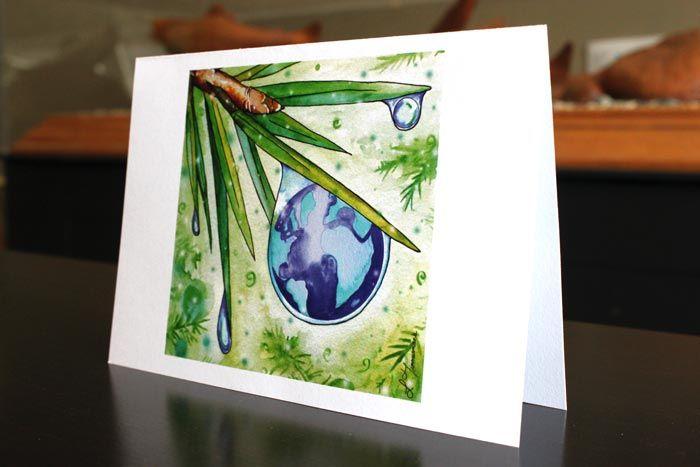 Dew Drop - art by Laura Timmermans (Seasonal greeting cards)