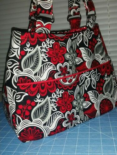 Swoon Ethel. Red, white and black cotton fabric.