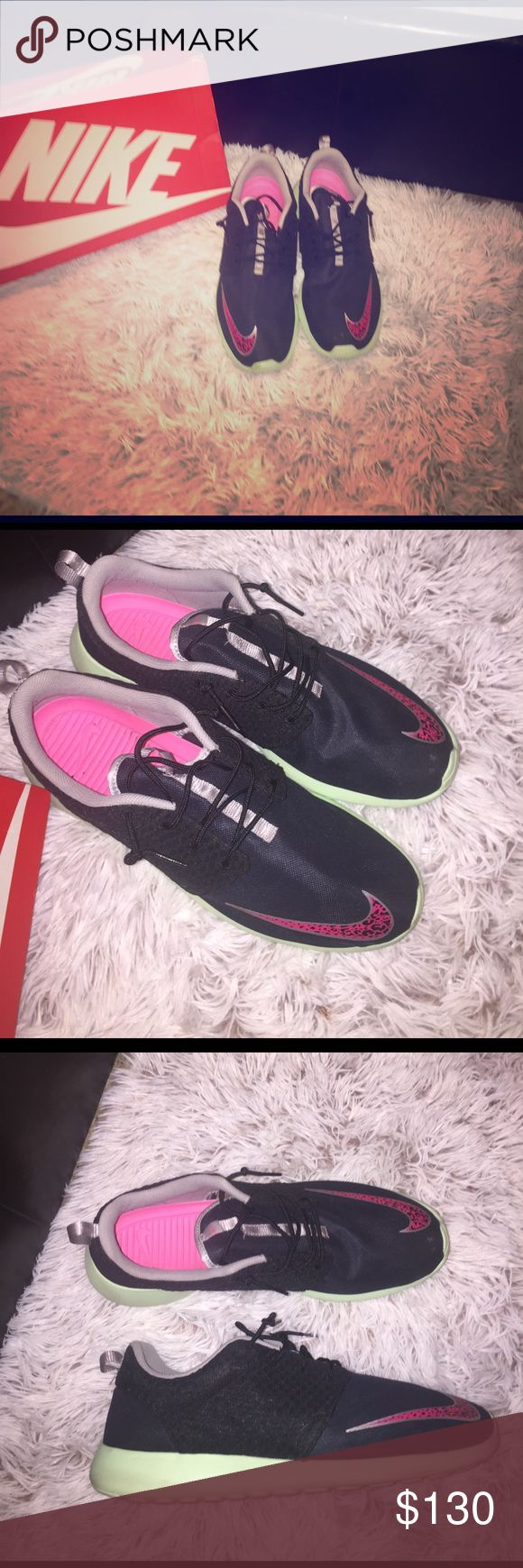 Yeezy Roshe Run Nike Rosherun FB 'Yeezy'   Size 15 comes with box worn once black/pink mint soles Nike Shoes Sneakers