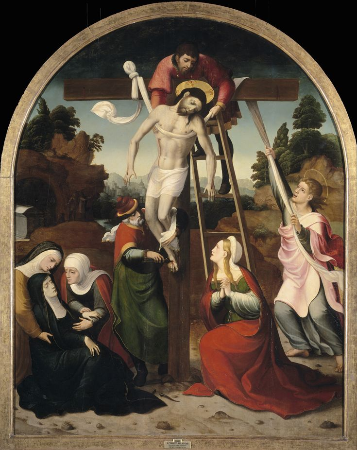 Descent from the Cross // Ca. 1545 // Juan Correa de Vivar #HolyWeek #JesusChrist