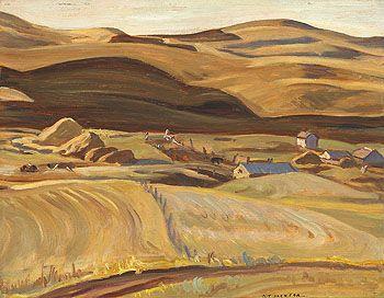 A.Y. Jackson (1882-1974), Canadian / Porcupine Hills, Alberta, 1937 /