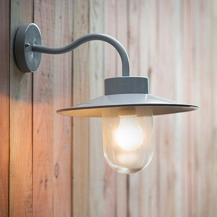 Arched Necked Exterior Wall Light With Shade