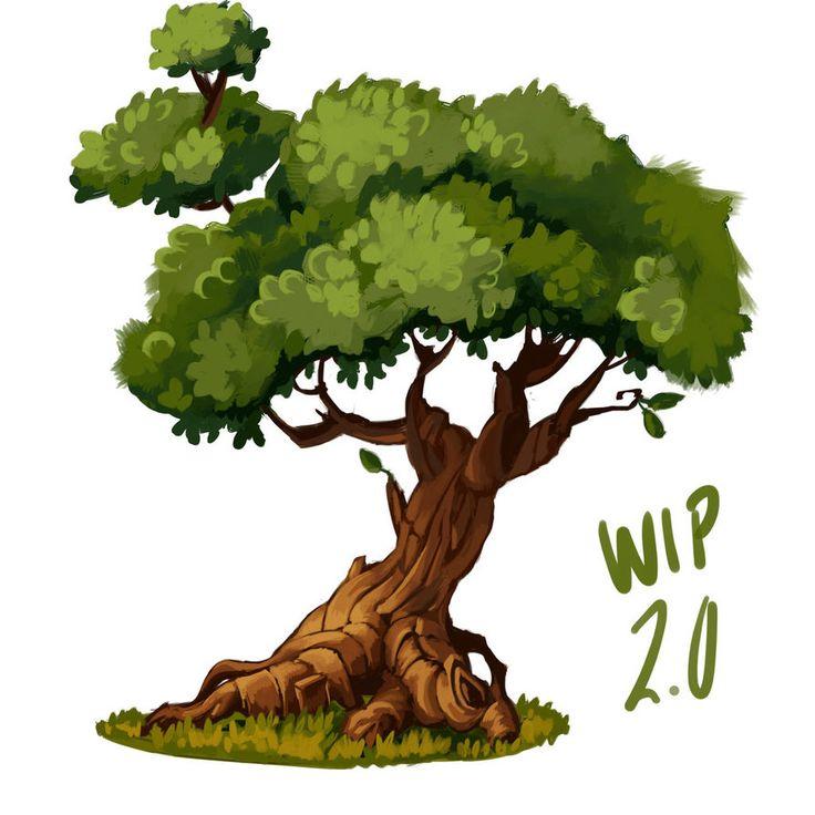 Game Art Tree Draft 1 by Matt-Sanz