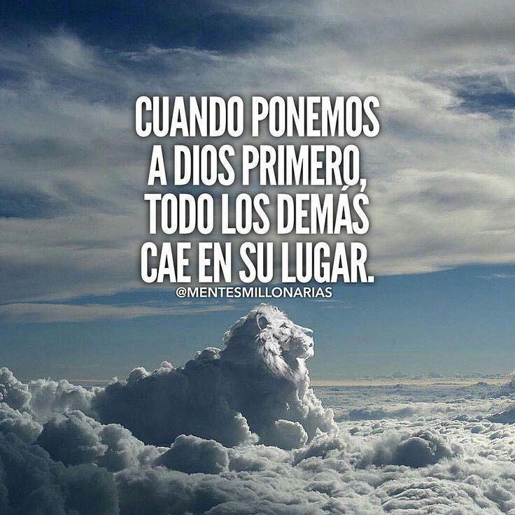 Cuando ponemos a Dios primero...