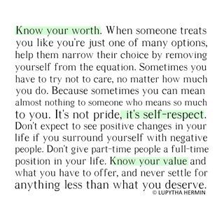 You deserve, Never settle and Toxic people on Pinterest