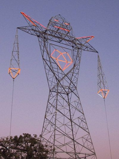Best Pylons Images On Pinterest Transmission Tower Electric - Architects turn icelands electricity pylons into giant human statues