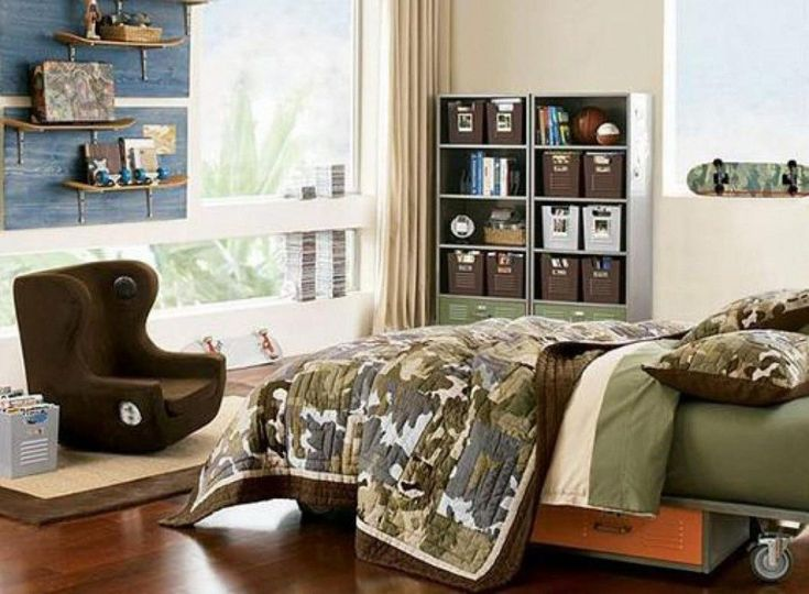 luxury camouflage bedroom interior decoration ideas for boys