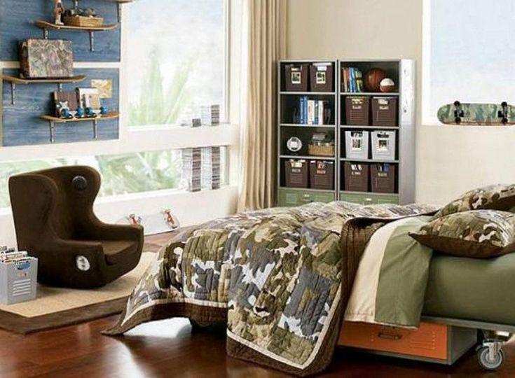 Luxury Camouflage Bedroom Interior Decoration Ideas For Boys