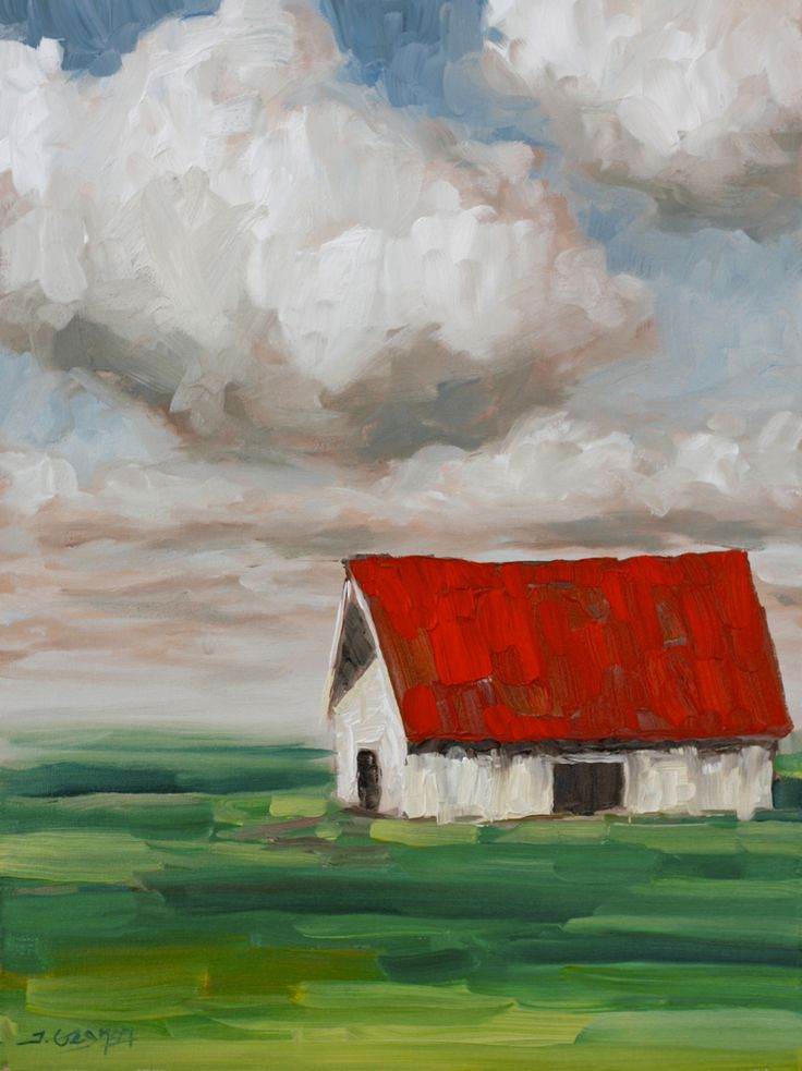 Expressionist Barn Canvas 18 X 24 Brushes Large Flat Medium Small Sizes Filbert Background Brush Colors Payne Grey
