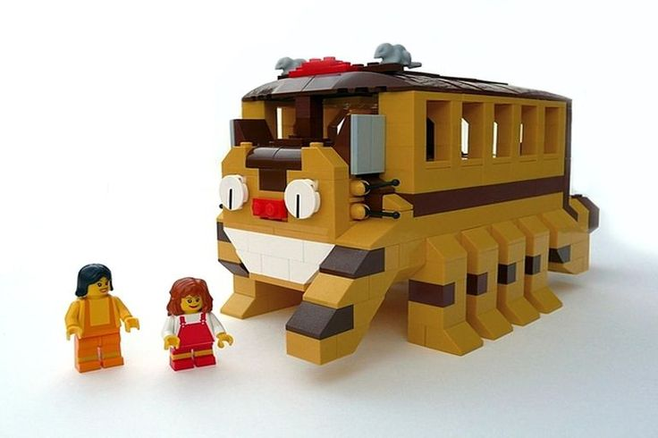 My Neighbor Totoro Cat Bus Custom Anime LEGO Set