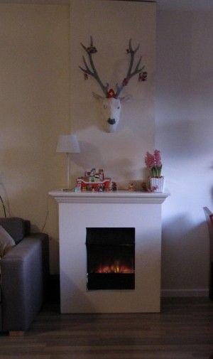 Zelfgemaakte nepschouw voor de decembermaand. Voor het zetten van de schoen voor sinterklaas en straks voor de kerstguirlandes met lampjes en kerstsokken