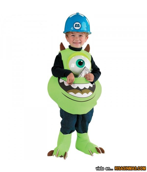 Disfraces originales: Mike Wazowski de Monstruos SA.