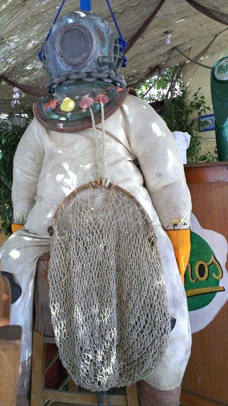 Sponge diver suit at Kalymnos island