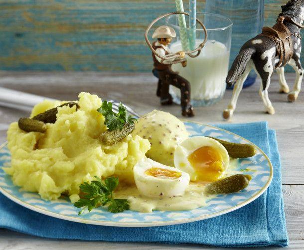 Unser beliebtes Rezept für Senfeier mit Kartoffelpüree und mehr als 55.000 weitere kostenlose Rezepte auf LECKER.de.