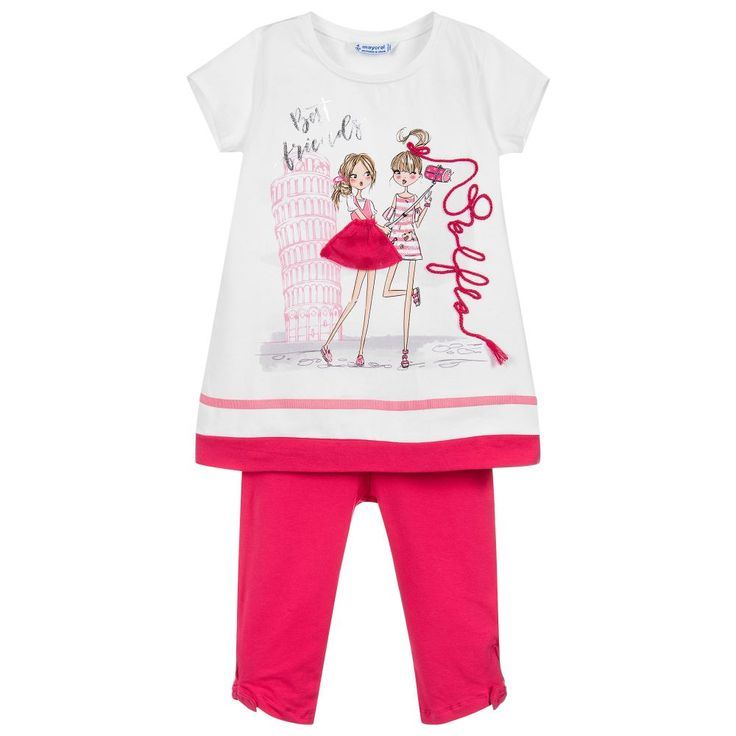 Mayoral Girls 2 Piece Leggings Set at Childrensalon.com