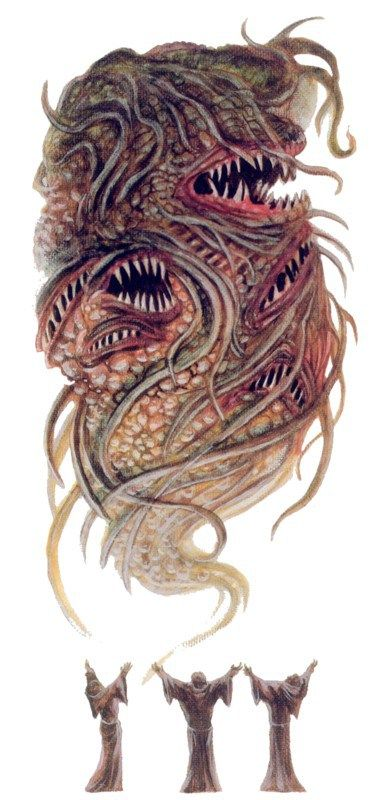Summoning Shub-Niggurath from S. Petersen's Field Guide to Cthulhu Monsters (illustration by Tom Sullivan)